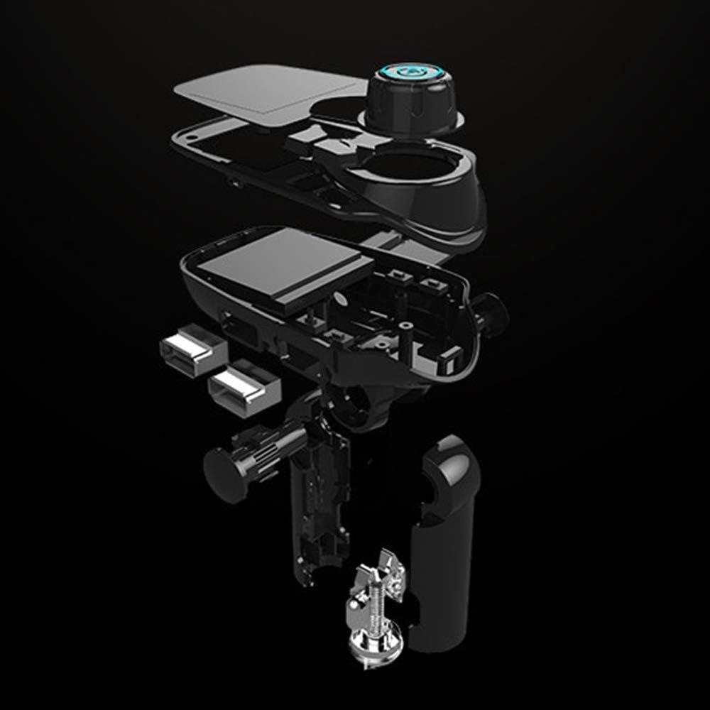 MMOBIEL Bluetooth trasmettitore FM 120//° di Rotazione Auto Adattatore Radio Kit con 4/modalit/à di Musica Play//Vivavoce//TF//caricabatteria da Auto USB Flash Drive//AUX Input//Output 3,7/cm LCD Display