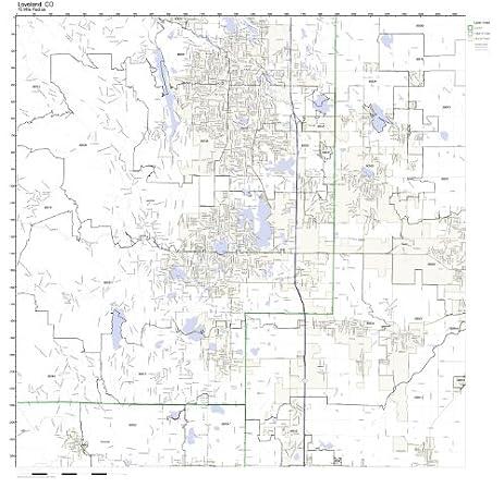 Amazoncom Loveland CO ZIP Code Map Laminated Home Kitchen - Colorado zip code map