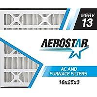 Aerostar 16x25x3 Trion Air Bear MERV 13 Air Bear Replacement Pleated Air Filter, Pleated (Pack of 3)