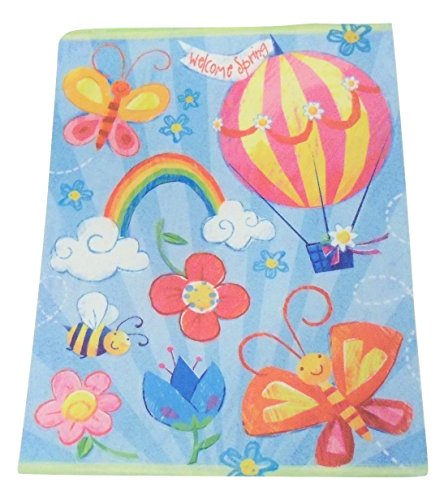 Spring Reusable Window Clings ~ Welcome Spring Play Scene (8 Pre-cut Clings, 1 Sheet)