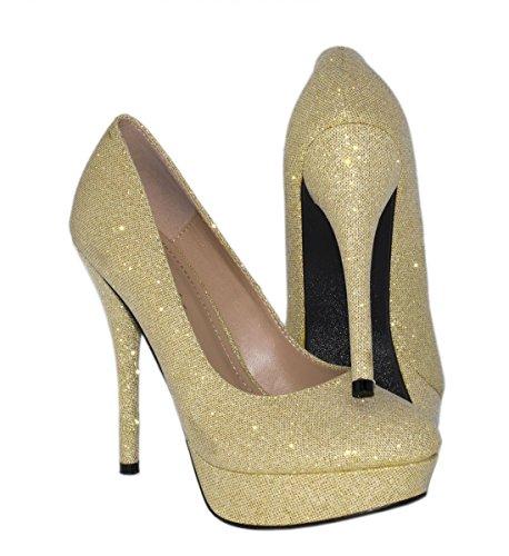 Oro Scarpe Oro con plateau Elara Donna 4UwqXAd