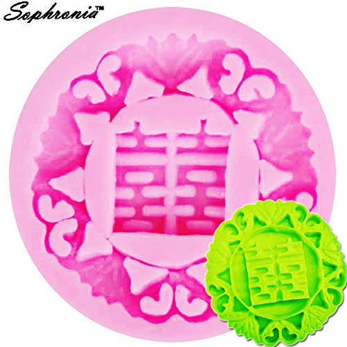 (Star-Trade-Inc - 10PCS/SET Chinese Character Double Happiness Silicone Chocolate Mold Cake Pudding Jelly Mould Ice Tray Cake Baking Tool F1009)