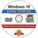 9th and Vine Compatible Windows 10 Home 32/64 Bit DVD. Install To Factory Fresh, Recover, Repair and Restore Boot Disc. Fix PC, Laptop and Desktop.: more info