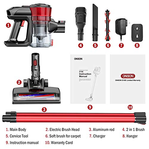 ONSON Cordless Stick Vacuum Cleaner