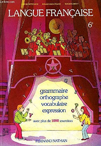 Langue Francaise Grammaire Orthographe Vocabulaire