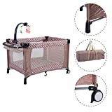 Beige Sleeping Playpen Baby Bassinet Portable Bed Crib Infant Children Kids Furniture With Ebook