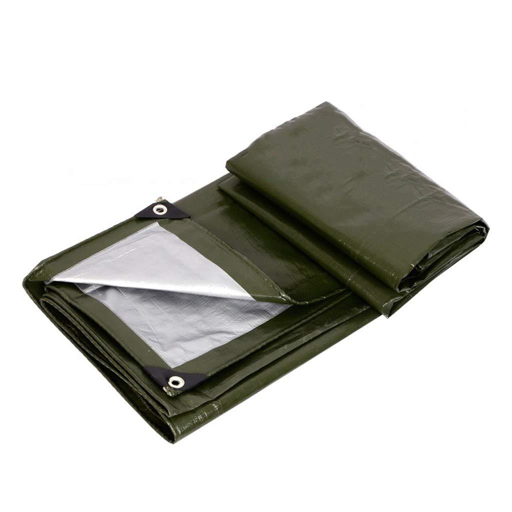 Wasserdichte Plane des im Freien-Sonnenschutz, LKW-Plane des Sonnenschutzes-Regen, grünes Silber, 2  3 Meter