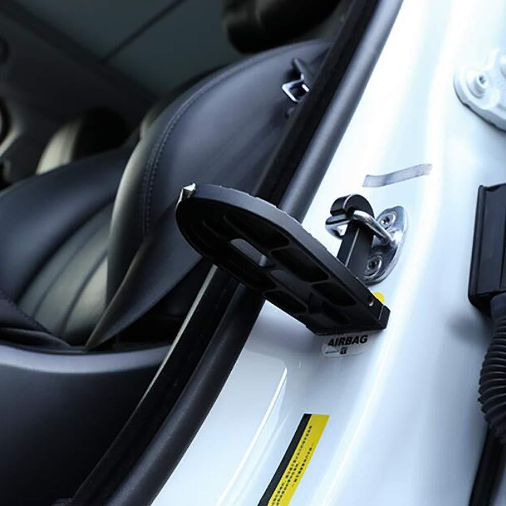 ZHONGYI666 Auto-Dach-t/ür-Pedal,u-f/örmige Auto T/ürschwelle Fahrzeug T/ürstock Mit Sicherheitshammer Funktion F/ür Einfachen Zugang Zum Autodach Trittstufe F/ür Auto,autozubeh/ör