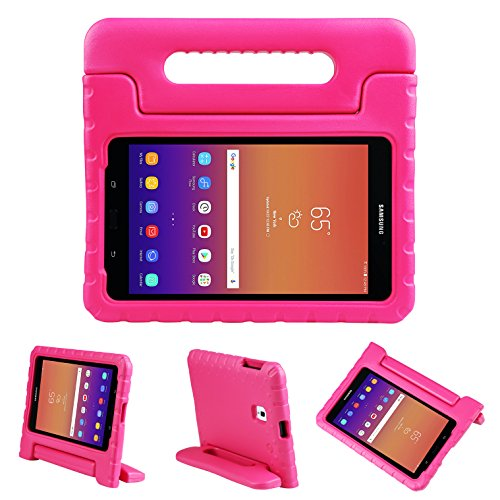 NEWSTYLE Tab A 8.0 2017 Kids Case Shockproof Light Weight Protection Handle Stand Kids Case for Samsung Galaxy Tab A 8.0 (SM-T380/T385) 2017 Release (Rose)