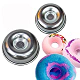 2 Pieces Assorted Size Metal Donut Bath Bomb Molds to Make Unique Cute Homemade or Business Bath Bombs (DONUTS)
