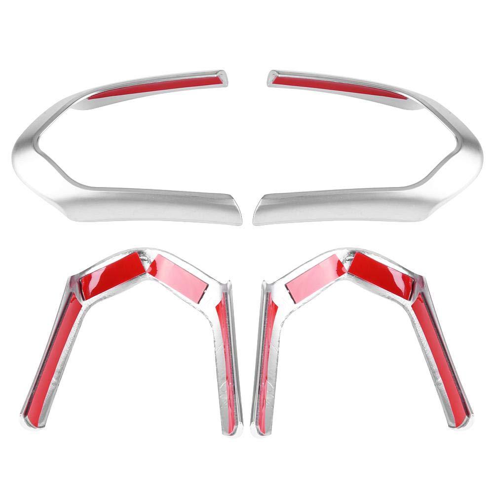 Steering Wheel Trim Chrome 2pcs Steering Wheel Cover Trim Frame for BMW F20 F22 F30 F32 F10 F06 F15 F16