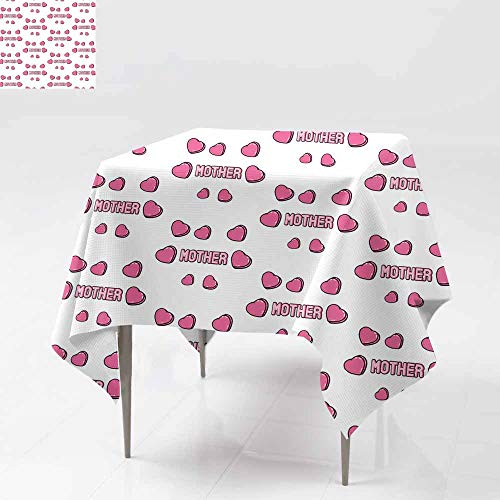 Resistant Table Cover,Seamless Pattern with Patches Stickers Badges pins with Word