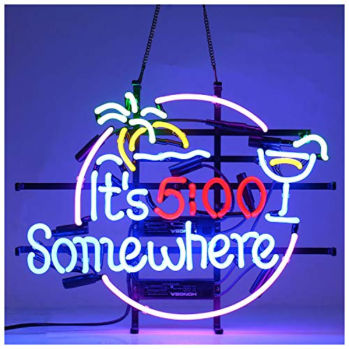Neon Sings 17 Inches IT5 Somewhere Real Glass Neon Light Sign Beer Bar Pub Store Club Garage Home Party Lights Signs with Fast Shipping