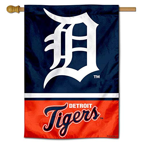Detroit Tigers Flag - WinCraft Detroit Tigers Double Sided House Flag