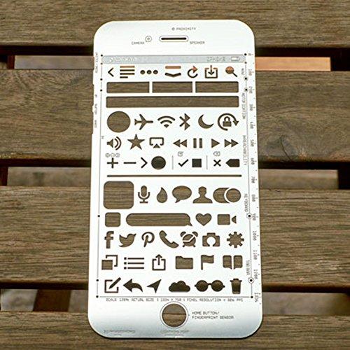 OLizee Creative iPhone 6 Sketch Pad Stencil Kit for App Design UI Design by OLizee (Image #4)