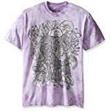 The Mountain Men's Colorwear Bo the Elephant Adult Coloring T-Shirt, Purple, Medium