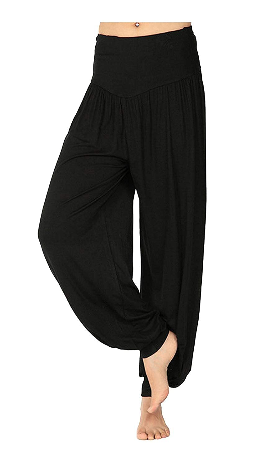 New Womens Harem Baggy Ladies Plain Ali Baba Full Length Baggy Trousers Legging