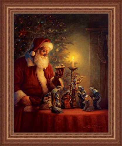 The Spirit Of Christmas by Greg Olsen Nativity Scene 15x19 Framed Art Print Picture (Santa Christmas Art)