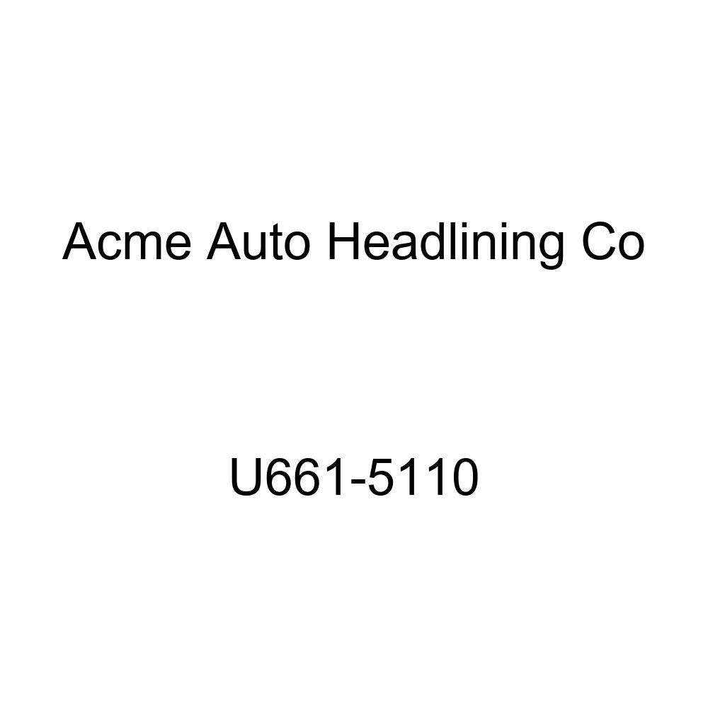 Acme U661-5110 Dark Red Vinyl Front Bucket and Rear Bench Seat Upholstery