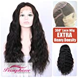 Persephone Glueless 200% Extra Heavy Density Body Wave 360 Lace Frontal Wigs Human Hair with Baby Hair Brazilian Remy Hair Lace Wig with Natural Hairline for Women Natural Color 22inches