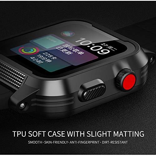 Waterproof Apple Watch Case 42mm, Waterproof Case for Apple Watch Generations 3&2, Ip68 Waterproof Dust-Proof Shockproof Case with Watchband Black by Homegician (Image #2)