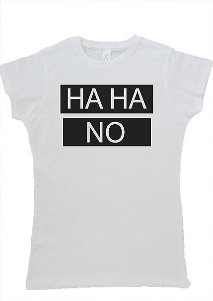 Haha no ha ha Tumblr Blogger Instagram Funny Chaleco de Mujer de Tirantes para mujer camiseta Blanco .White Medium: Amazon.es: Ropa y accesorios