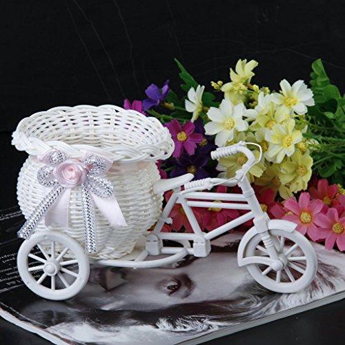 Baby High Sock - Aima Handmade Tricycle Bike Shape Basket Arrangement - Small Amplifier 150w Wicker Audio Sound Vase Flower Roswheel Seagrass Cycle Power Modern White Baby Bicycle High Bike S