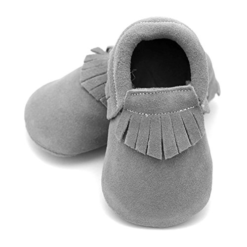 Moccasin Gray 6-12 mos