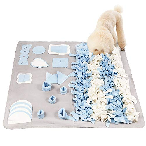 STELLAIRE CHERN Snuffle Mat for Small Large Dogs Nosework Feeding Mat (39.4 x 39.4) Easy to Fill and Machine Washable Training Mats Pet Activity/Toy/Play Mat, Great for Stress Release - L