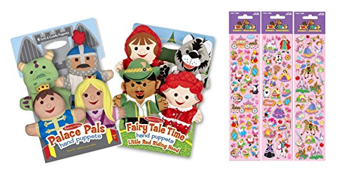 Melissa & Doug Palace Pals and Fairy Tale Friends Hand Puppets Combo