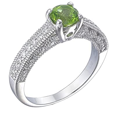 Sterling Silver Peridot Ring 3 4 CT