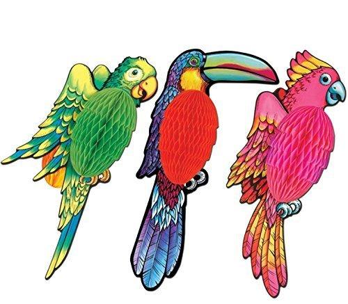 Tissue Exotic Birds 17in. 3/Pkg, Pkg/1