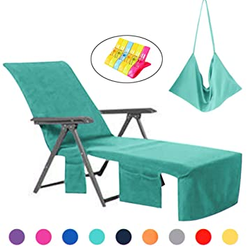 Tremendous Vocool Lounge Chair Cover Microfiber Beach Towel Swimming Pool Lounge Chair Cover With Pockets Holidays Sunbathing Quick Drying Terry Towels Green Spiritservingveterans Wood Chair Design Ideas Spiritservingveteransorg