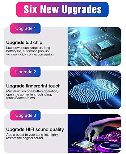 Wei/ß Bluetooth Kopfh/örer In Ear Sport Ohrh/örer Bluetooth Headset Joggen V5.0 Stereo-Sound Bluetooth Kopfh/örer Kabellos mit Ladestation und Mikrofon f/ür IOS Android Samsung Huawei HTC