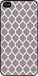 Grey Lattice Pattern- Hard Black Plastic Snap - On Case -Apple Iphone 5C ONLY- Great Quality!
