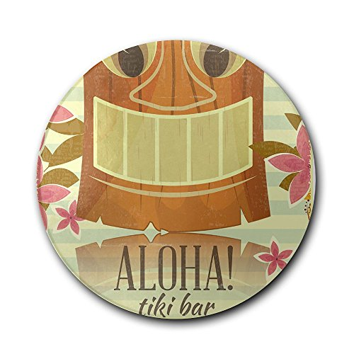 Ceramic Coaster, Personalized Gifts Vintage Hawaiian Tiki Bar Glass Cup Holder Coffee Mug Place Mats Absorbent Stone Coasters For ()