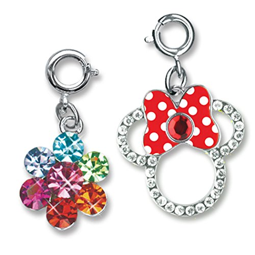 CHARM IT! Disney Minnie Mouse Bow and Rainbow Daisy 2 Charm Ribbon Bag Set