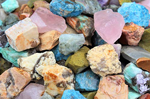 5Lb (Mixed Assorted (Africa)) Natural Rough Stones Rocks - Huge Choice - Bulk Lots Lbs or Oz Cabbing Tumbling by DD_INC