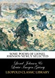 img - for Some poems of Lionel Johnson newly selected book / textbook / text book