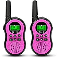 Koviti 2- Pack Kids 2 Way Radio 22 Channel Range Up to 3Miles UHF Walky Talkies