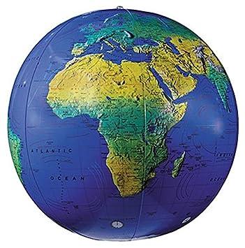 Amazon.com: Replogle Globes inflable Globo topográfico, azul ...
