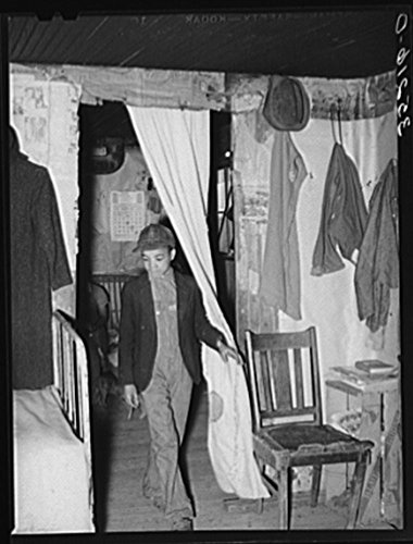 1940 Photo Son Of Pomp Hall  Negro Tenant Farmer  Coming Through Doorway In His House  Creek County  Oklahoma  See General Caption Number 23 Location  Creek County  Oklahoma
