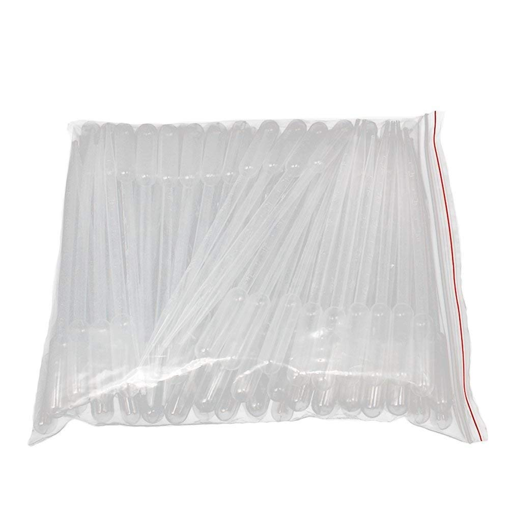 AJSR 5ml Transparent Disposable Plastic Dropper Transfer Pipette, Pack of 100pcs ANZESER
