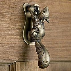 Casa Hardware Brass Squirrel Door Knocker in Antique Brass Finish