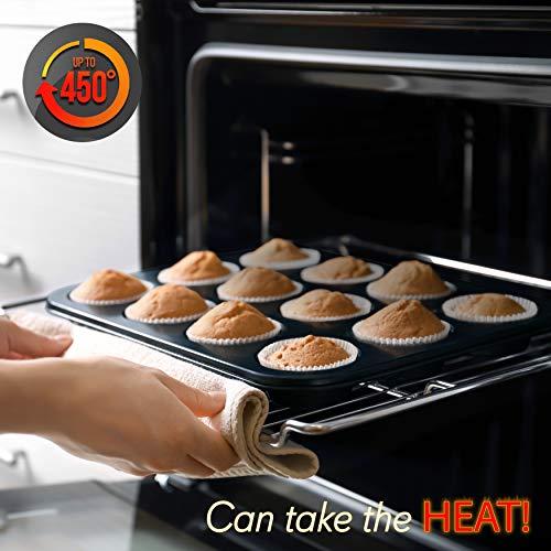 NutriChef Kitchen Oven Baking Pans Carbon Steel