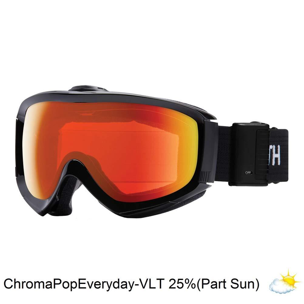 a98883c8b3b Amazon.com  Smith Optics Adult Knowledge Turbo Fan Snow Goggles Black  Frame ChromaPop Everyday Red Mirror  Sports   Outdoors