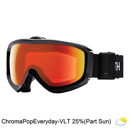 1942772a6a58 Smith Optics Adult Knowledge Turbo Fan Snow Goggles Black Frame ChromaPop  Everyday Red Mirror