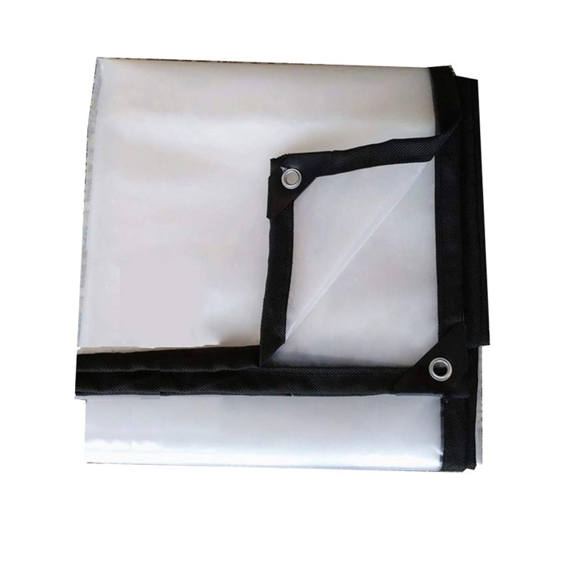 GLP Panno di tela cerata impermeabile in plastica trasparente Panno di tela cerata impermeabile in plastica (120 g mq, 0,2 mm) (Dimensione   4mx8m)