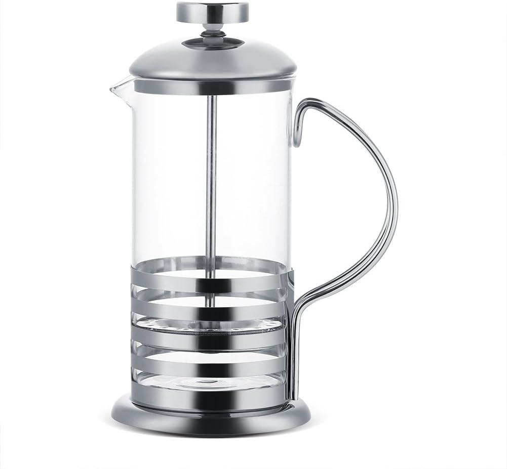 Premere Caffettiera in acciaio inox Vetro Caffettiera Filtro francese T/è Caffettiera Premere Stantuffo