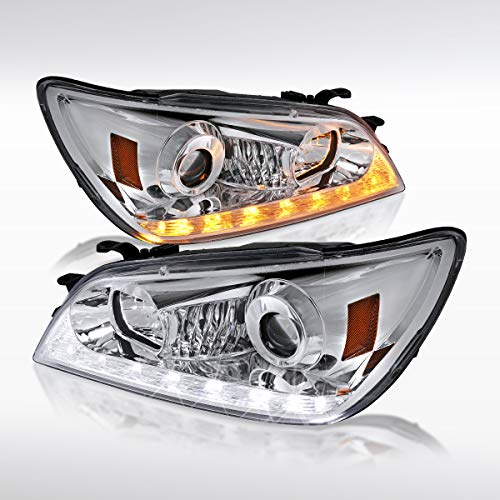(Autozensation For Lexus IS300 Chome Clear LED Strip Projector Headlights (2006 Look) )